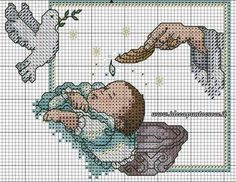 Just Cross Stitch, Cross Stitch Baby, Counted Cross Stitch Patterns, Cross Stitch Charts, Cross Stitch Embroidery, Christmas Embroidery Patterns, Religious Cross, Le Point, Baby Patterns