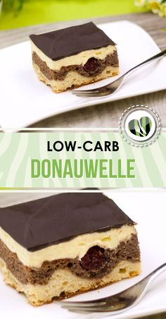 Der Kuchenklassiker in der low-carb Variante. Die Donauwelle ist auch zuckerfrei… The cake classic in the low-carb variant. The Danube wave is also a sugar treat a delight. The recipe gives it up www. Low Carb Sweets, Low Carb Desserts, Low Carb Recipes, Baking Recipes, Fall Desserts, Dairy Recipes, Paleo Dessert, Dessert Recipes, Acerola