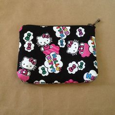 Hello Kitty Zipper Clutch: For Cosmetics Nail by AlannaAccessories