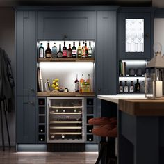 Bar-ideas-for-the-home-built-in-kitchen