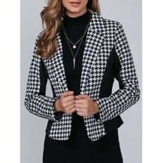 SHARE & Get it FREE | Houndstooth Pattern One Button BlazerFor Fashion Lovers only:80,000+ Items • FREE SHIPPING Join Twinkledeals: Get YOUR $50 NOW!