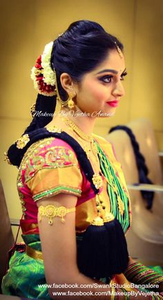 Our would be bride Aparna strikes a pose after her makeover… – beauty Bridal Makeup Images, Indian Bridal Makeup, Indian Groom, South Indian Bride, Wedding Vows, Wedding Wear, Wedding Gifts, Bridal Packages, Bridal Makeover
