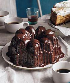 Glazed Triple-Chocolate Pound Cake