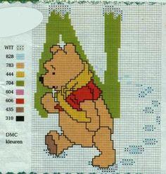 Winnie the Pooh Alfabet N