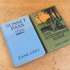 Zane Grey Books: Sunset Pass, The Mysterious Rider by FeeneyFinds on Etsy