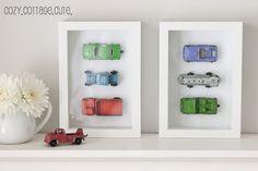 Cozy.Cottage.Cute.: Framed Vintage Cars for Kids Room or Nursery