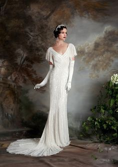 The perfect gown for a Downton Abbey theme