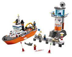 lego city le bateau et la tour de contrle des garde ctes - Lego City Bateau
