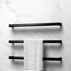 Clean Linear Lines. CUBO Heated Towel Rails From Avenir. Now in Matt Black and other Special Finishes Black Towel Rail, Black Towels, Bathroom Towel Rails, Bathroom Towel Decor, Bath Towel Racks, Bathroom Caddy, Towel Holder, Bathroom Ideas, Bathroom Design Inspiration