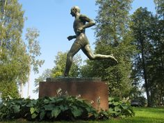 One of great Finnish runners in the past | Statue of Hannes Kolehmainen | Kuopio, Finland.