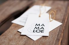 Business card & tag for &Mamaloe (with Mira ter Braak)