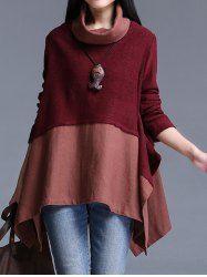 Asymmetrical Patchwork Sweater