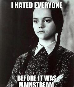 I hated everyone. Wednesday Addams; my twiny