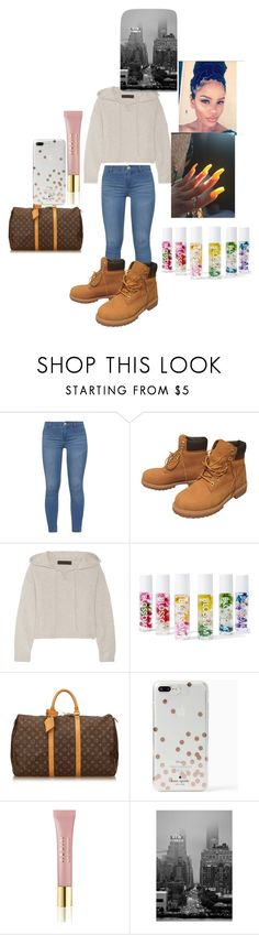 """""""skool"""" by justbriair ❤ liked on Polyvore featuring Dorothy Perkins, Timberland, The Elder Statesman, Blossom, Louis Vuitton, Kate Spade and AERIN"""