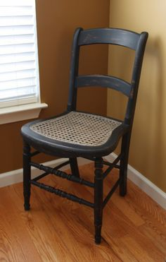 The Black Sheep Shoppe: Adding Character to a Chair: Graphite, Coco, and Black Wax