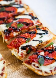 Homemade caprese french bread pizza -so easy and delicious! Easy to customize with all your favorite toppings!