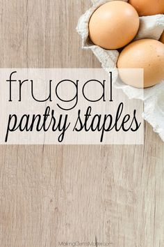 Need help stocking your pantry on a budget? I always keep these frugal pantry staples because they keep our grocery costs down and simplify our meal planning process. How many of them do you keep on hand? Frugal Living Tips, Frugal Tips, Frugal Meals, Budget Meals, Food Budget, Frugal Recipes, Cheap Meals, Healthy Groceries, Save Money On Groceries