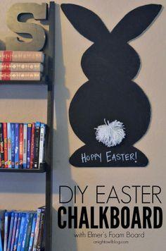 DIY Easter Chalkboard with Elmer's Foam Board