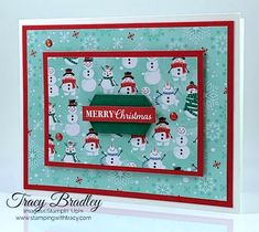 Tracy's Tuesday Tutorial - Stamping With Tracy Diy Cards, Christmas Cards, Diy Paper, Paper Crafts, Heartfelt Creations, Card Kit, Snowmen, Stamping, Tuesday