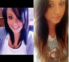 Hair extensions before and after  Customer photo  www.zalacliphairextensions.com.au