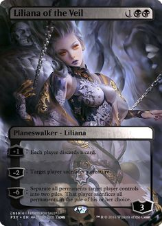 Magic the Gathering - Liliana of the Veil by ASliceOfUnagi on DeviantArt