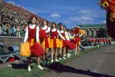 35mm Slide Cheerleaders Iowa State 1966 Cyclones Football Stadium Game   eBay