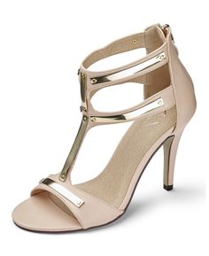 http://www.simplybe.com/view-all-new-in/ax-paris-t-bar-sandal-d-fit/invt/kg067sy   Add some glamour to your outfit with these T-bar sandals from AX Paris. It's all about strappy heels this season and with their metallic finish you'll be right on trend. Available in black or nude.