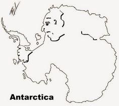 A funny map of Antarctica