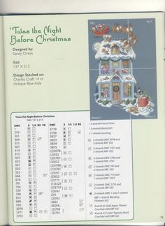 Twas the Night Before Christmas cross stitch stocking - Page 2 #crossstitch