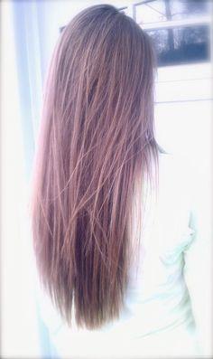 lovely long hair also love how she straightened it