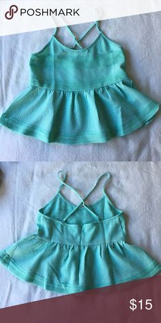 Cute babydoll top Adorable sea foam green babydoll top with textured fabric Double Zero Tops Blouses