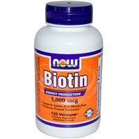 iHerb, Now Foods, Biotin, 5,000 mcg, 120 Vcaps