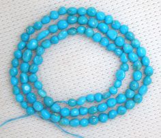 Sleeping Beauty Turquoise Graduated Pebble Beads All natural Std Blue in Jewelry & Watches, Loose Beads, Stone Turquoise Necklace, Beaded Necklace, Amber Ring, Sleeping Beauty Turquoise, 18th, Jewelry Watches, Beads, Stone, Natural