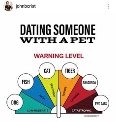 Dating Someone With a Pet - John Crist Funny Picture Quotes, Funny Quotes, John Crist, Tiger Fish, Christian Humor, Dear Future Husband, True Memes, Inspiring Things, I Hate You