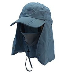54d58903301 Amazon.com   Home Prefer UV Protection Outdoor Sun Hat with Neck Flap  Foldable Jungle Fishing Hiking Cap Red Orange   Sports   Outdoors