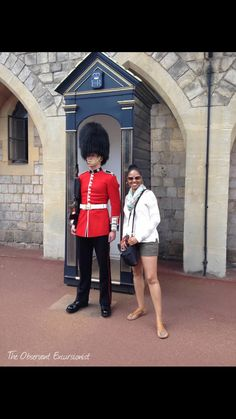 "At Windsor Castle after the ""Guard Mounting"" ceremony (Changing the Guard) ceremony. I had dreamed of this moment for so long and I made it happen!  What's your travel dream?  Follow me on Instagram for more great travel pics!"