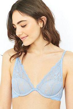 Calvin Klein - Soutien-gorge à armatures Seductive Comfort en dentelle bleu