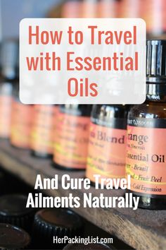 Essential oils can help ease ailments with natural solutions. Caroline shares with us how to travel with essential oils and her essential oils packing list.