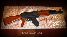 Welcome to Sweet Creations: AK 47 Groom's Cake