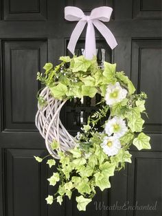 A personal favorite from my Etsy shop https://www.etsy.com/listing/595500819/spring-wreath-summer-wreath-mothers-day