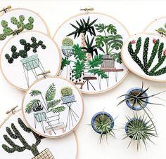 Sarah k Benning's contemporary embroidery