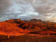 Wadi Dana at Sunset in Jordan