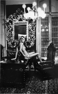 Charlotte Rampling at Hotel du Nord. Charlotte said this would be her last ever nude shoot, a promise that Helmut Newton would persuade her to break a number of times afterwards.
