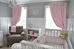 """""""This white Southern Nest Monogram was used in our daughter's gray and pink nursery."""" -Megan"""