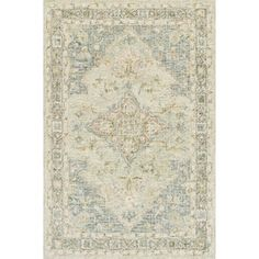 """Hand-hooked Traditional Seafoam Green Mosaic Wool Rug - 3'6"""" x 5'6"""" - Free Shipping Today - Overstock - 26949398"""