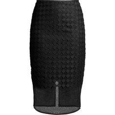Diane Von Furstenberg Diamond and Twig-lace pencil skirt (355 AUD) ❤ liked on Polyvore featuring skirts, black, knee length pencil skirt, high waisted skirts, high-waisted skirts, high waist knee length pencil skirt and high-waisted pencil skirts