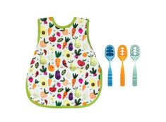 """This fun """"Three Spoon Circus"""" bundle, which comes with THREE Gootensils plus a Bapron to create the perfect tools for a little mealtime circus of your own. Mealtime was made to be fun! Food Texture, Young Baby, Baby Led Weaning, Baby Food Recipes, Spoon, Guacamole Hummus, 2 Step, Repeat, Empty"""