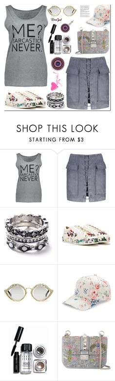 """""""Me sarcastic?"""" by samra-bv ❤ liked on Polyvore featuring Nasty Gal, Gucci, BCBGeneration, Bobbi Brown Cosmetics, Valentino, WALL, polyvoreeditorial, polyvorecontest, polyvorefashion and rosegal"""