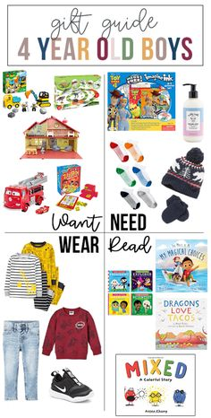 Want, Need, Wear, Read: The Gift Guide for 4 Year Old Boys