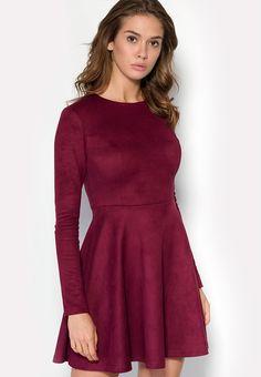 """Платье """"NIX"""" из искусственной замши. Детали: в составе этого материала есть нити эластана, которые"""